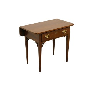 20th Century Traditional Link-Taylor Heirloom Solid Mahogany Drop-Leaf End Table For Sale