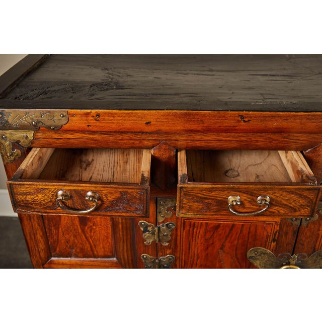 Late 19th Century 19th C. Korean Chest on Chest with Butterfly Hardware For Sale - Image 5 of 10