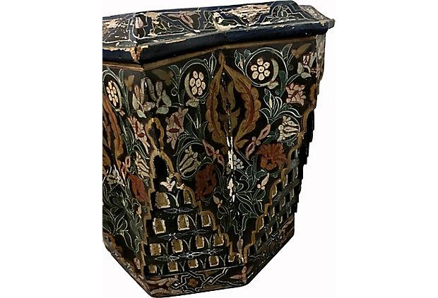 Moroccan Stone Top Hand Painted Table   Image 5 Of 11