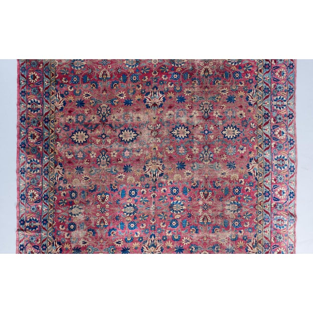 Traditional Oversized Magenta Ground Khorasan Carpet For Sale - Image 3 of 6