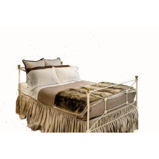 Late 20th Century Antique Regency Style Wrought Iron Double Size Bed For Sale - Image 5 of 5