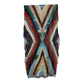 "Moroccan Kilim Boucherouite Rug- 4'5"" X 8'10"" For Sale"