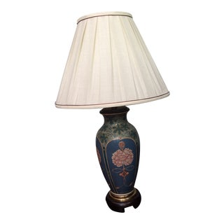 Frederick Cooper Floral Ceramic Lamp For Sale