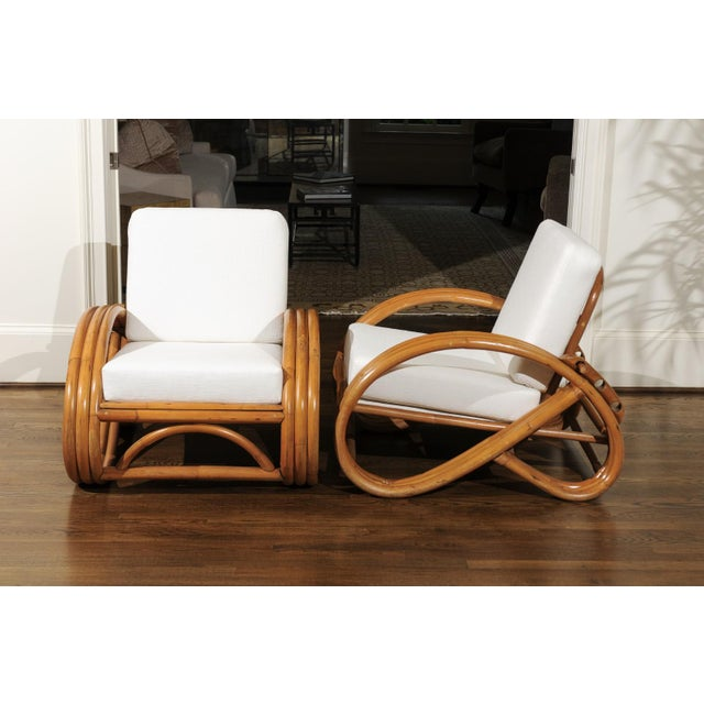 Mid-Century Modern Pair of 1950s Restored Pretzel Loungers For Sale - Image 3 of 13