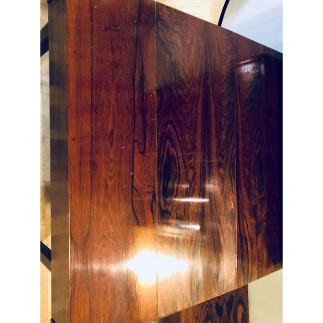 Brown Midentury Rosewood Wall-Unit Including Table, Desk, Curio Cabinet and Light For Sale - Image 8 of 13