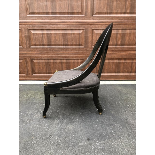 Mid 20th Century Mid Century Maitland Smith Style Accent Chair For Sale - Image 5 of 9