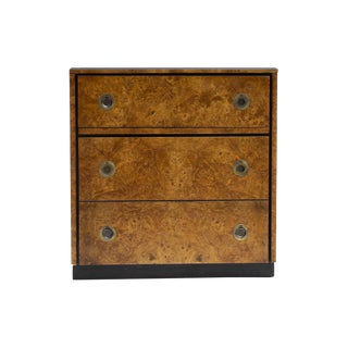 John Widdicomb Burlwood Chest Dresser With Pull Out Surface