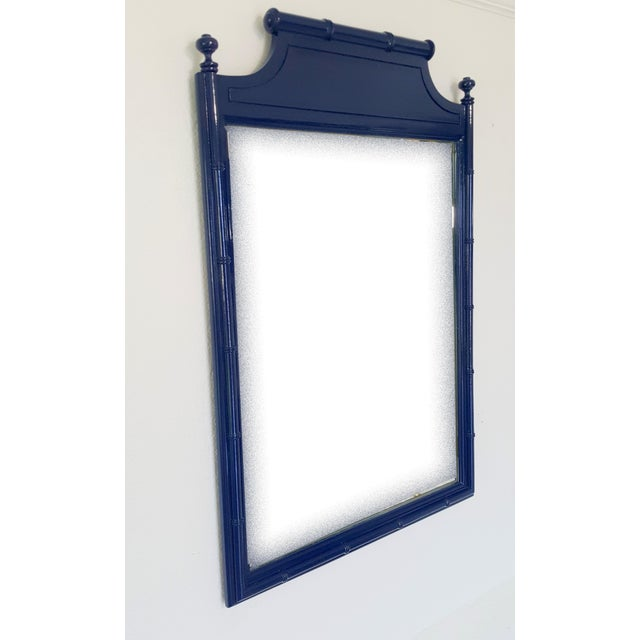 Henry Link Vintage Henry Link Faux Bamboo Mirror For Sale - Image 4 of 7