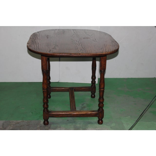 English Country Walnut Table - Image 5 of 5