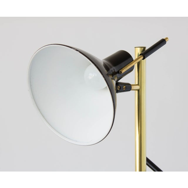 Three-Shade Floor Lamp by Gerald Thurston Lightolier For Sale - Image 9 of 11