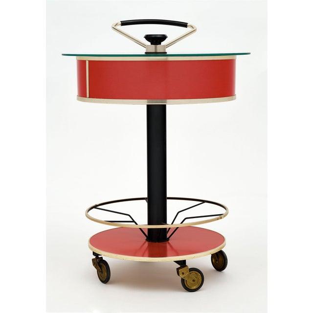 1970s Italian Hydraulic Bar Cart For Sale - Image 5 of 10
