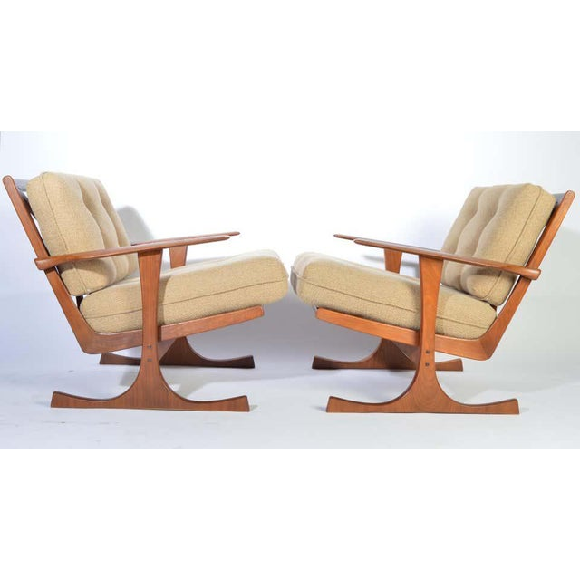 Mid-Century Modern Ib Kofod-Larsen for Selig Denmark Lounge Chairs in Teak For Sale - Image 3 of 11