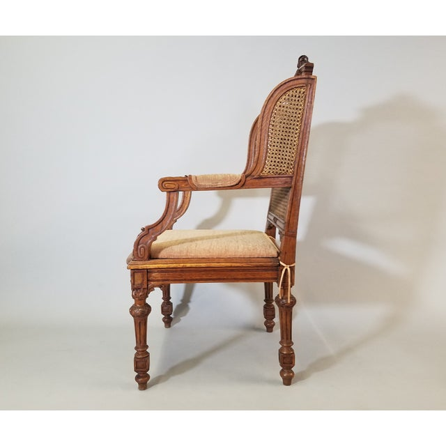 French Circa 1910 Pair of French Louis XVI Style Armchairs For Sale - Image 3 of 13