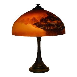 1920s Phoenix Sunset Landscape Table Lamp, France For Sale