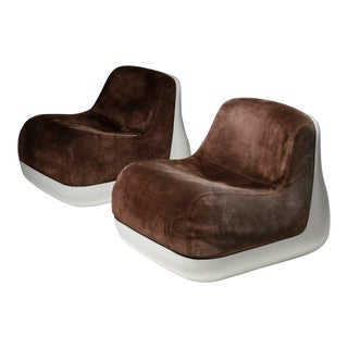 Pair of Easy Chairs by Alberto Rosselli for Saporti For Sale