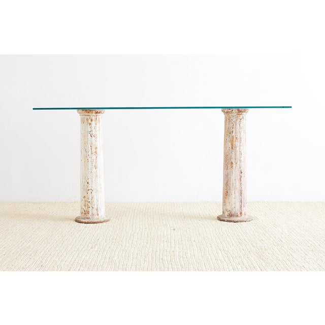 Groovy Neoclassical Iron Column Console Or Sofa Table Ibusinesslaw Wood Chair Design Ideas Ibusinesslaworg