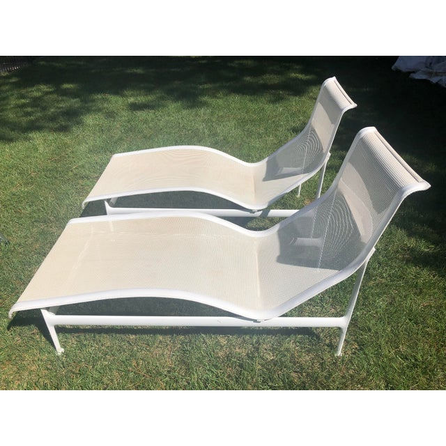 Pair of Vintage Richard Schultz 1966 Collection Contour Chaises. The chairs were Purchased originally in Palm Springs.
