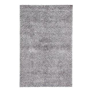 Pollack by Jaipur Living Impresario Handmade Medallion Silver/ Gray Area Rug - 5'x8' For Sale