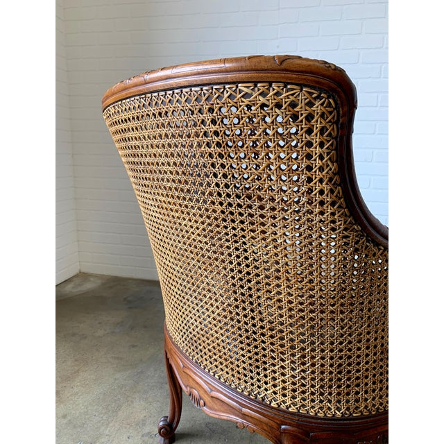 Curved Double Cane Lounge Chairs- a Pair For Sale - Image 10 of 13