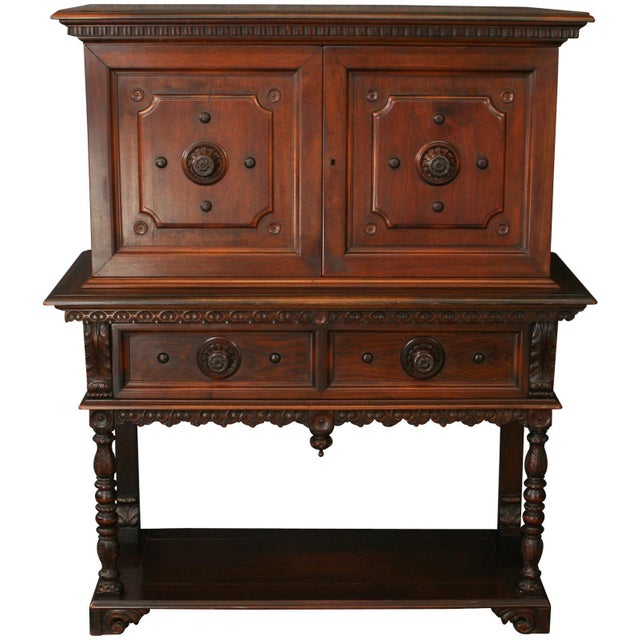 Antique 1900s Mahogany Cabinet - Image 2 of 8