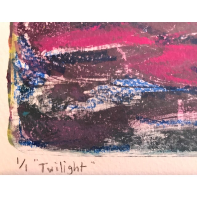 Twilight Handmade Monotype Painting - Image 4 of 6