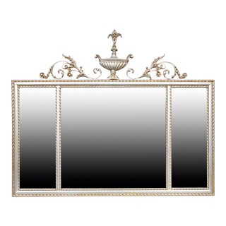 Vintage LaBarge Adam Style Silver & Gilt Finish Mirror For Sale