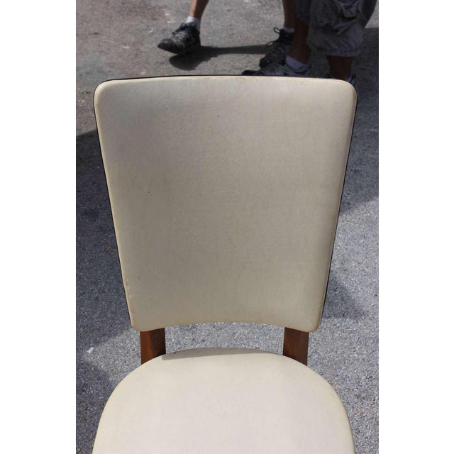 Vintage French Art Deco Mahogany Dining Chairs - Set of 6 - Image 3 of 7