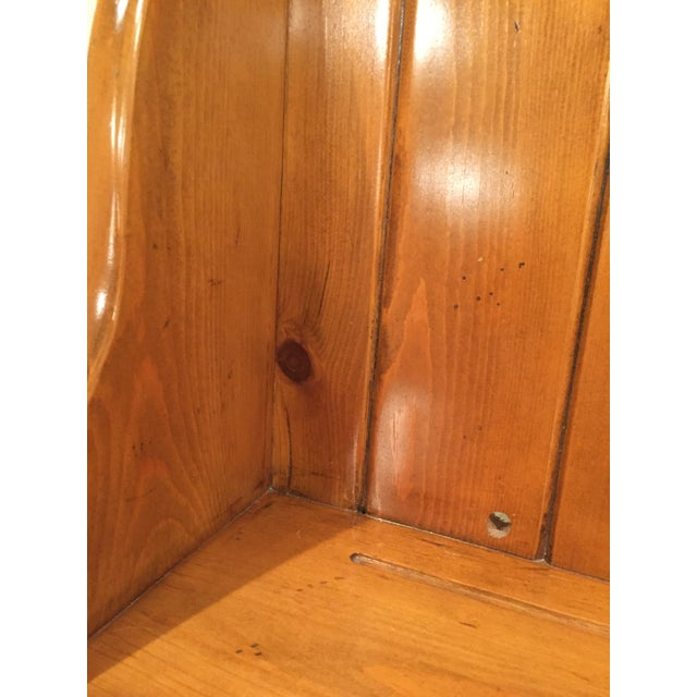 Brown 1950s Early American Pine Shelf Unit Telephone For Sale - Image 8 of 13