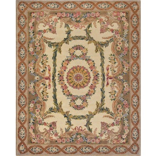 Mansour Exquisite European Handwoven Savonnerie Rug For Sale