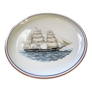 Mottahedeh Clipper Ship Maritime Museum Plate For Sale