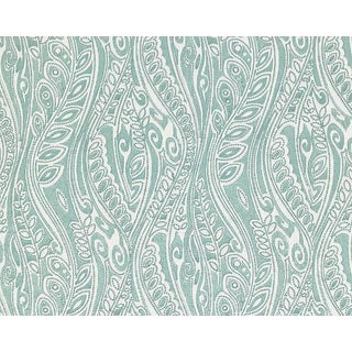 Hinson for the House of Scalamandre Fanfare Fabric in Aqua For Sale