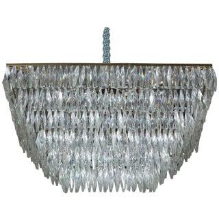 1960's Italian Murano Crystal Chandelier For Sale