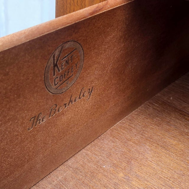 """Brown Mid-Century Modern Highboy Dresser by Kent Coffey, """"The Berkeley"""" For Sale - Image 8 of 13"""