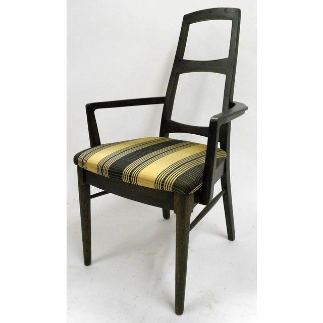 Mid-Century Black Teak Dining Chairs - Set of 6 - Image 3 of 8