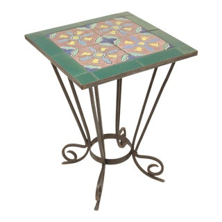 1930s Art Deco Tile Top Occasional Table For Sale