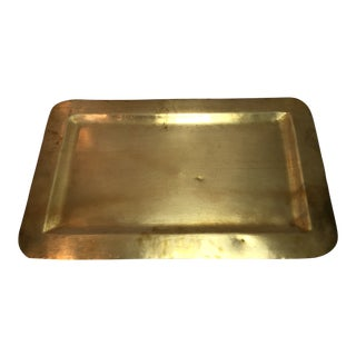Large Vintage Brass Tray For Sale