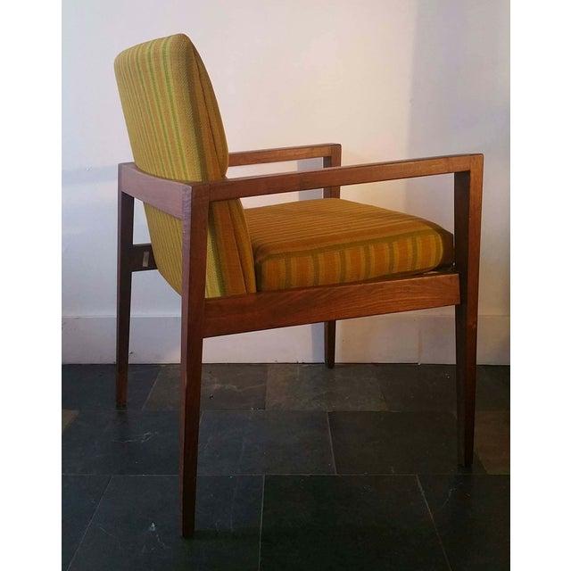 Jens Risom Walnut Cube Desk Chair - Image 7 of 7