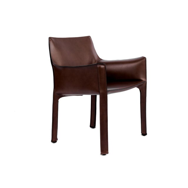 Contemporary Cassina Briar Root Saddle Leather Maxi Armchair For Sale - Image 3 of 4