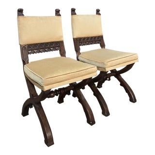 19th Century Gothic Chairs - a Pair For Sale