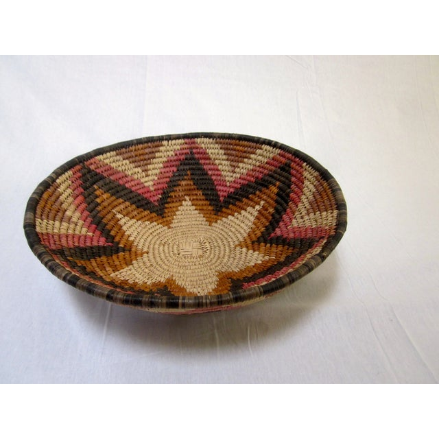 Hand Woven Natural Fiber Large Basket - Image 2 of 6