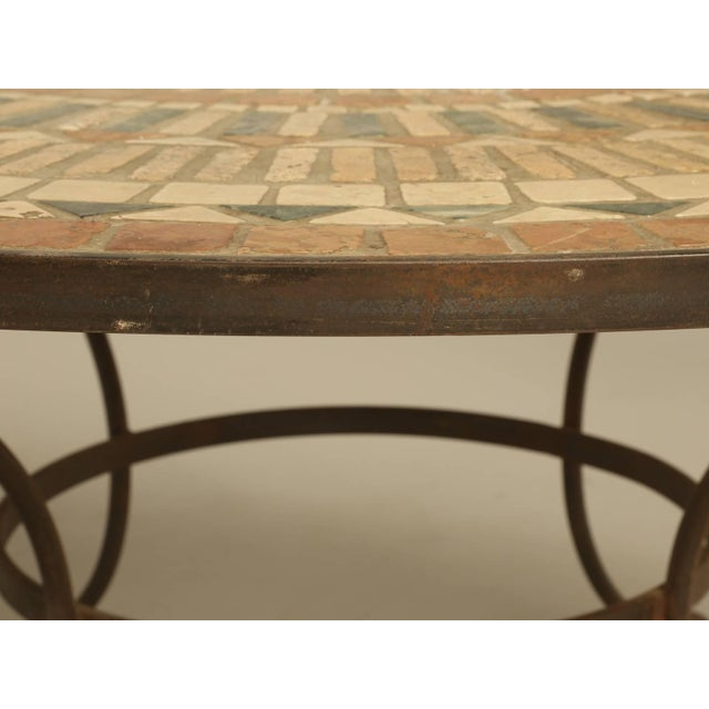 1950s Vintage French Mosaic Garden Table, Seats Up to Nine People For Sale - Image 5 of 9
