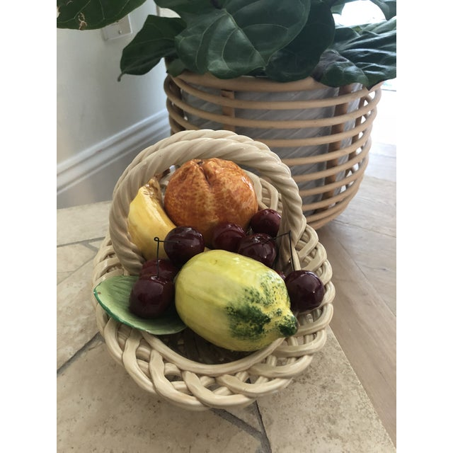 1960s Vintage Italian Ceramic Fruit Bowl For Sale - Image 6 of 11