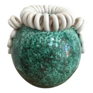 French Art Deco Glazed Ceramic Vase