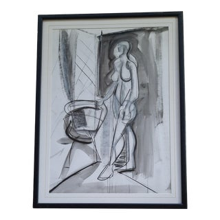 Cubist Figurative Drawing by Fried For Sale
