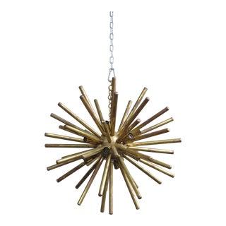 Italian Brass Mid-Century Modern Sputnik Chandelier For Sale