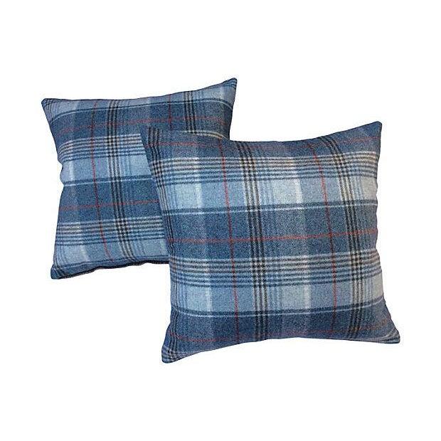 Scottish Wool Plaid Pillows - Pair - Image 1 of 3