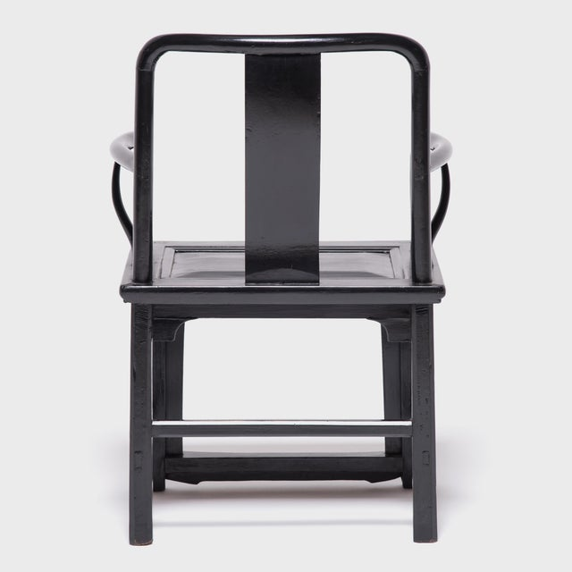 Chinese Black Guanmaoyi Chair For Sale - Image 4 of 8