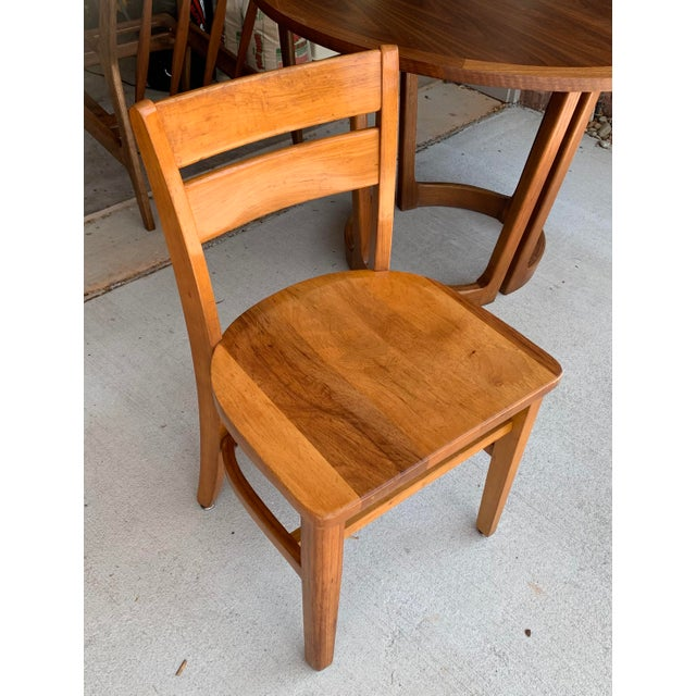 Wood Vintage High Point Bending & Chair Co. Solid Oak School Chair For Sale - Image 7 of 8