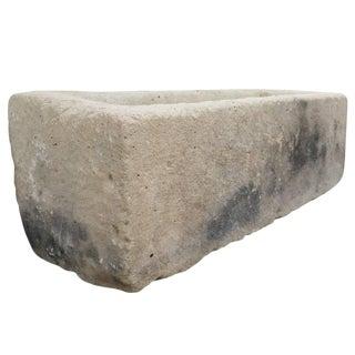 Antique Rectangular Limestone Trough For Sale