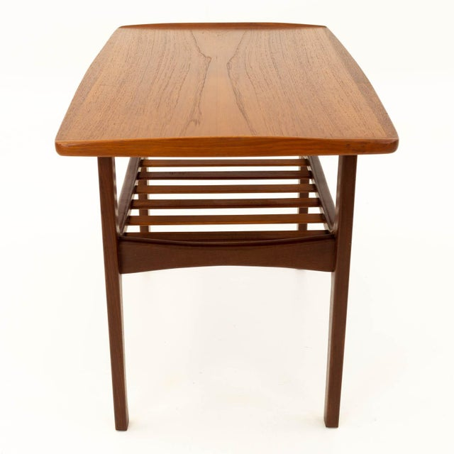 Mid Century Modern Teak Occasional Table For Sale In Chicago - Image 6 of 10